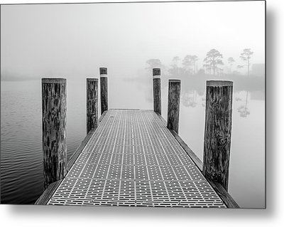 Metal Print featuring the photograph Foggy Dock In Alabama  by John McGraw