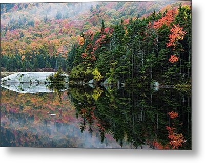 Metal Print featuring the photograph Foggy Foliage Morning Kinsman Notch by Jeff Folger