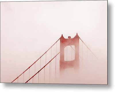 Metal Print featuring the photograph Foggy Golden Gate by Art Block Collections