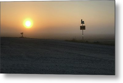 Foggy Hawkeye Sunrise  Metal Print