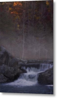 Metal Print featuring the photograph Foggy Morning At Linville Falls by Ellen Heaverlo