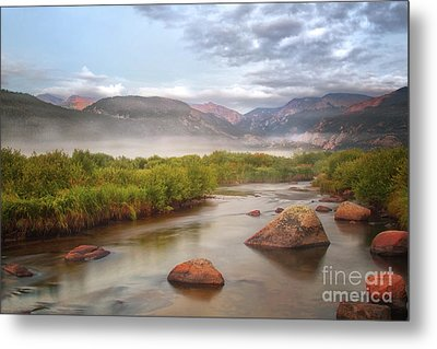 Foggy Morning In Moraine Park Metal Print by Ronda Kimbrow