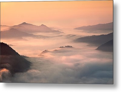 Foggy Morning In The Mountains Metal Print by Fproject - Przemyslaw Kruk