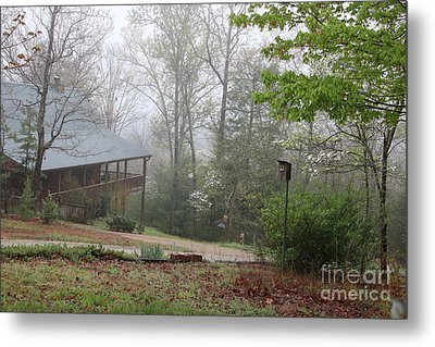 Foggy Morning In The Mountains Metal Print
