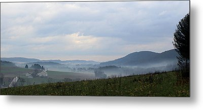 Foggy Morning In The Valley Metal Print by Liz Allyn