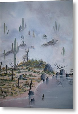 Foggy Morning Metal Print by Patrick Trotter