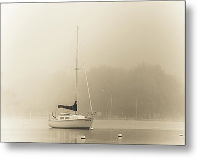 Metal Print featuring the photograph Foggy Sail by Joel Witmeyer