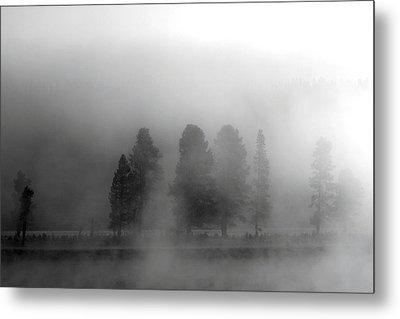 Foggy Yellowstone Metal Print