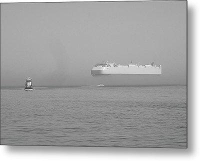 Fogs Floating Barge Metal Print by WaLdEmAr BoRrErO