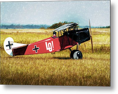 Metal Print featuring the photograph Fokker D Vii by James Barber