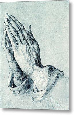 Folded Hands Of An Apostle Metal Print by Albrecht Durer