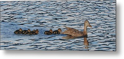 Follow The Leader Metal Print by Sharon Farber