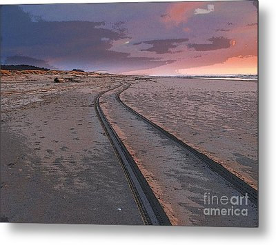 Follow The Sandy Road Metal Print by Carol Grimes