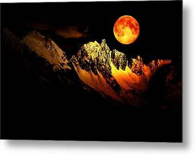 Follow Your Inner Moonlight Metal Print by Michele Cornelius