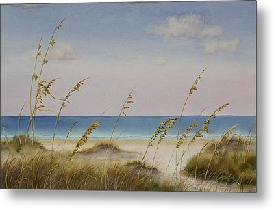 Folly Beach Metal Print by Cindy Davis