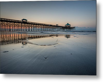 Folly Beach South Carolina Pier Metal Print