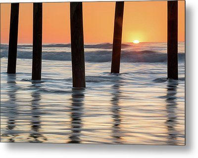 Folly Beach Sunrise Charleston South Carolina Metal Print by Mark VanDyke