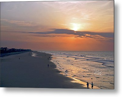 Folly Beach Sunrise Metal Print by Meta Gatschenberger