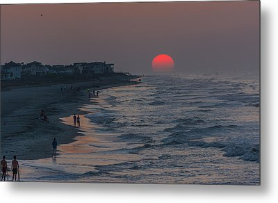 Folly Beach Sunrise Metal Print