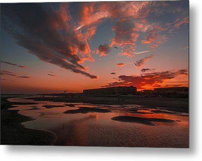 Folly Beach Sunset Metal Print