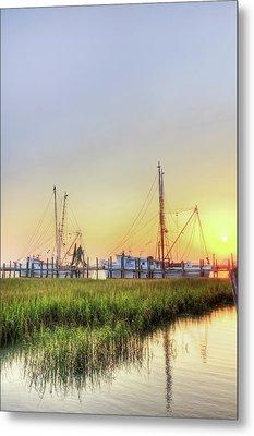 Folly Fishing Boats  Metal Print by Drew Castelhano