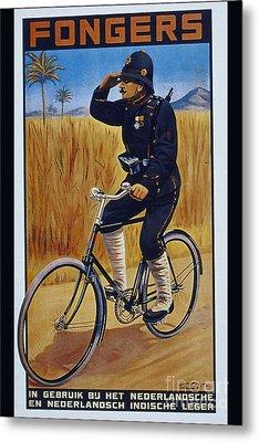 Fongers In Gebruik Bil Nederlandsche En Nederlndsch Indische Leger Vintage Cycle Poster Metal Print by R Muirhead Art