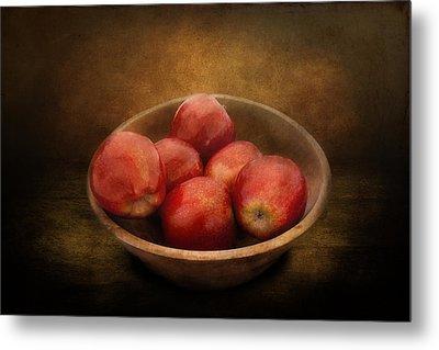 Food - Apples - A Bowl Of Apples  Metal Print by Mike Savad