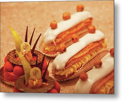 Food - Cake - Little Cakes Metal Print by Mike Savad