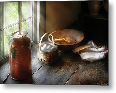 Food - Morning Eggs Metal Print by Mike Savad