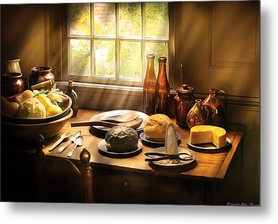 Food - Ready For Guests Metal Print by Mike Savad