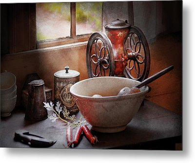 Food - The Morning Chores Metal Print by Mike Savad