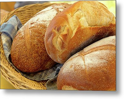 Metal Print featuring the photograph Food - Bread - Just Loafing Around by Mike Savad