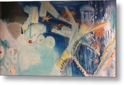 Food Chain From The Viewpoint Of Plankton Metal Print by Lori Lazar