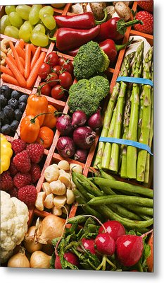 Food Compartments  Metal Print