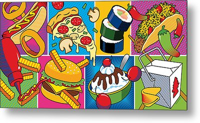 Food Essentials Metal Print