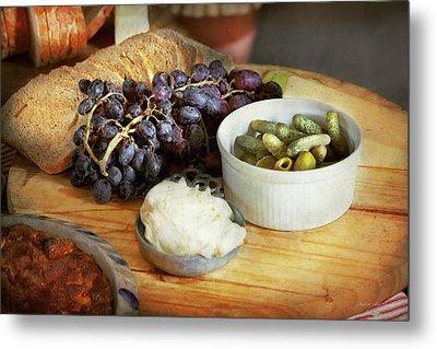 Food - Fruit - Gherkins And Grapes Metal Print by Mike Savad