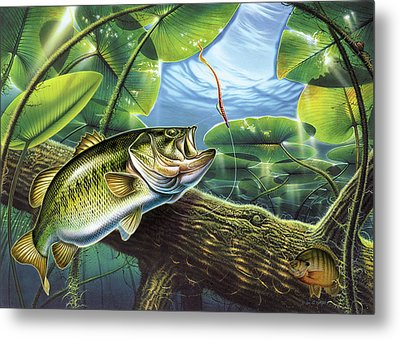 Fooled Again Bass II Metal Print by JQ Licensing