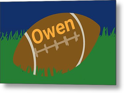 Foot Ball Metal Print by Denny Casto
