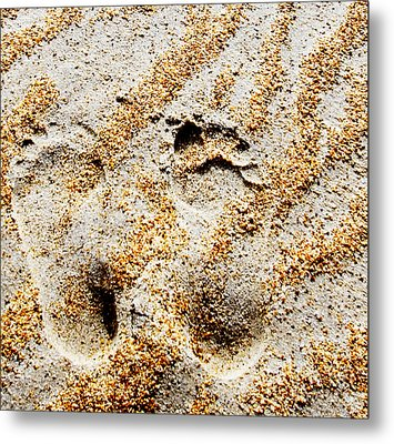 Foot Prints  -  Part 2 Of 3 Metal Print