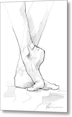 Foot Study Metal Print by H James Hoff