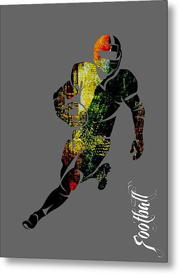 Football Collection Metal Print by Marvin Blaine