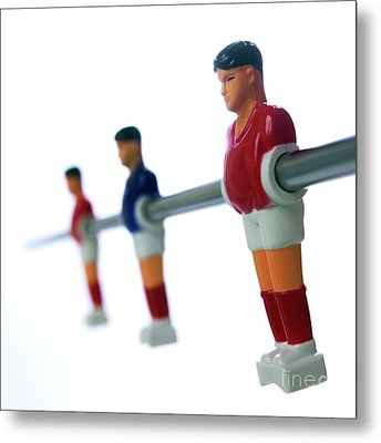 Football Figurines Metal Print by Bernard Jaubert