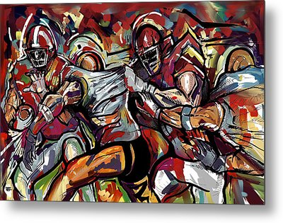 Football Frawl Metal Print