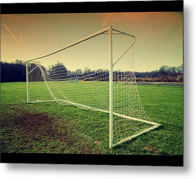 Football Goal Metal Print by Federico Scotto