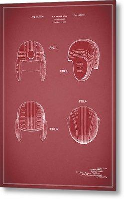 Football Helmet 1935 - Red Metal Print