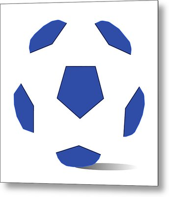 Football Image In Dazzling Blue And White Space Metal Print by David Smith