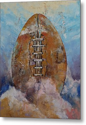 Football Metal Print by Michael Creese