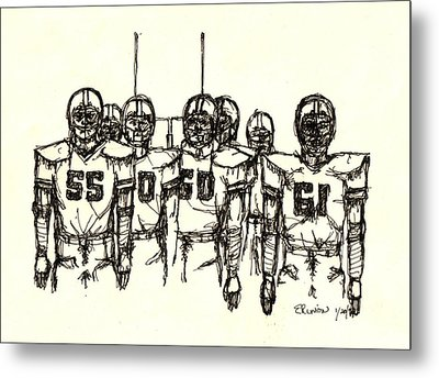 Football Nasties Metal Print by Brett H Runion