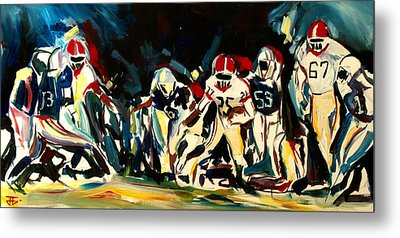 Football Night Metal Print