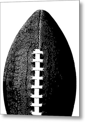 Football Poster Black White Metal Print by Flo Karp